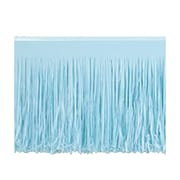 "Beistle 15"" x 10' 6-Ply Tissue Fringe Drape, Light Blue, 2/Pack"