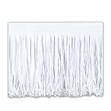 Draperie à franges en papier 6 épaisseurs, 15 po x 10 pi, blanc, 2/paquet