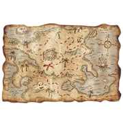 "Beistle 12"" x 18"" Treasure Map, 5/Pack"