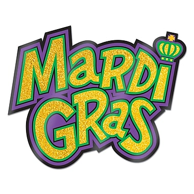 Glittered Mardi Gras Sign, 12