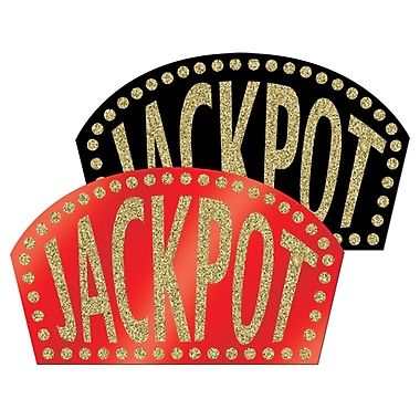 Enseignes à paillettes « Jackpot », 10 ½ po x 18 po, paq./4