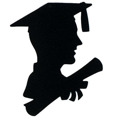 Silhouette d'homme diplômé, 8 x 12 po, paquet de 13