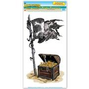 Autocollant trésor de pirates, feuille de 12 x 24 po, paquet de 3