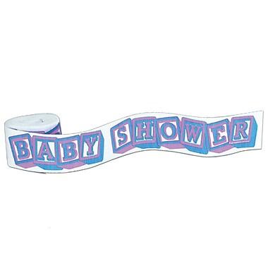 Banderole « Baby Shower » en crêpe ignifugé, 2 1/2 po x 30 pi, 5/paquet