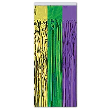 Gleam 'N Curtain, 8' x 3', Green/Gold/Purple, 2/Pack