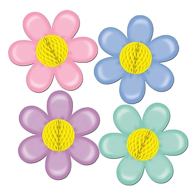 Pastel Flowers With Tissue Center, 14