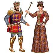 Beistle 3' Jointed Royal King and Queen, 3/Pack