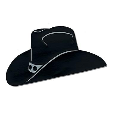 Silhouette de chapeau de cowboy en aluminium, 19 po, noir, 5/paquet