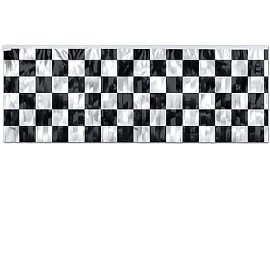 Flame Resistant Metallic Checkered Fringe Banner, 14