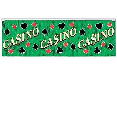 Metallic Casino Fringe Banner, 14