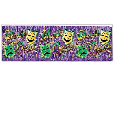 Metallic Mardi Gras Fringe Banner, 14