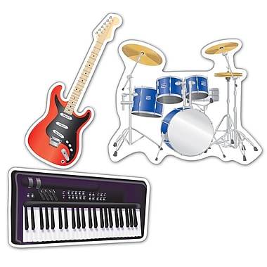Découpes en forme d'instrument de musique, 18 po, 9/paquet