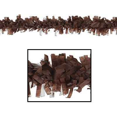 Beistle 25' Tissue Festooning Garland, Brown, 4/Pack