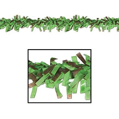 Beistle 25' Tissue Festooning Garland, Light Green/Brown, 4/Pack