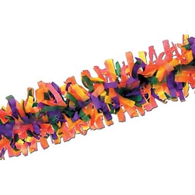 Beistle 25' Tissue Festooning Garland, Rainbow, 4/Pack