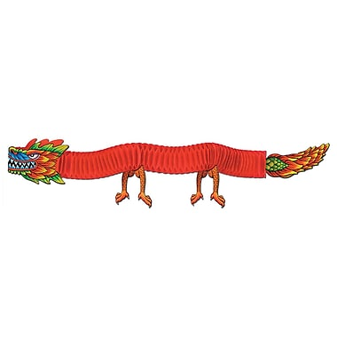 Dragon asiatique en papier, 6 pi, paquet de 3