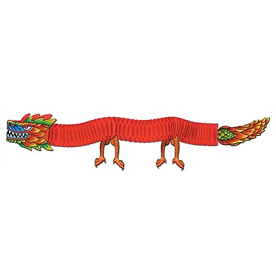 Beistle 6' Asian Tissue Dragon, 3/Pack