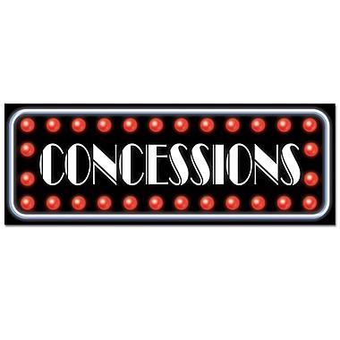 Affiche « Concessions », 8 x 22 po, paquet de 9
