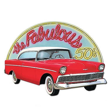 Voiture « the Fabulous 50's », affiche, 18 x 25 (po), paq./4