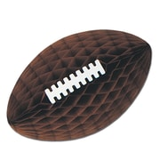 "Beistle 28"" Tissue Football With Laces, Brown"