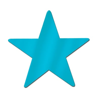 Mini étoile en aluminium, 5 po, turquoise, 22/paquet