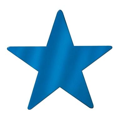 Petite étoile en aluminium, 9 po, bleu, 13/paquet