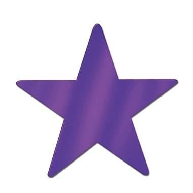 Petite étoile en aluminium, 9 po, violet, 13/paquet