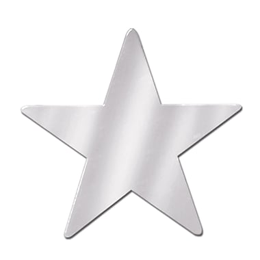 Petite étoile en aluminium, 9 po, argenté, 13/paquet