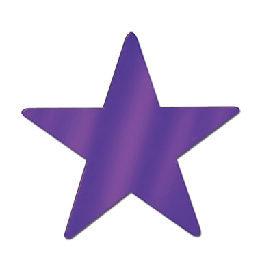 Grande étoile en aluminium, 15 po, violet, 6/paquet
