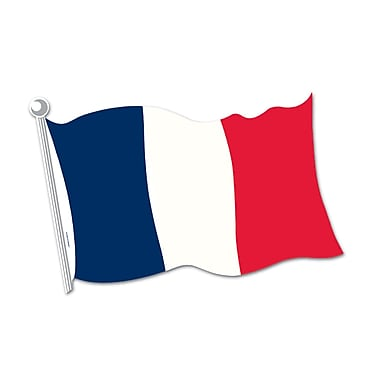 French Flag Cutout, 18