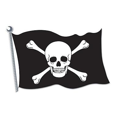 Découpe drapeau de pirate, 18 po, 9/paquet