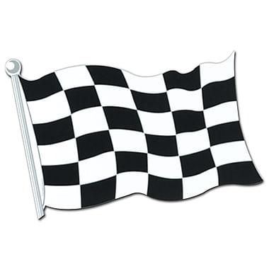 Découpe drapeau damier, 18 po, 9/paquet