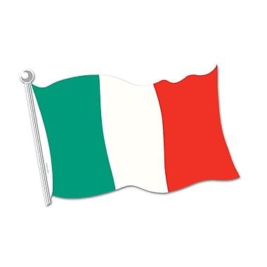 Découpe drapeau italien, 18 po, 9/paquet