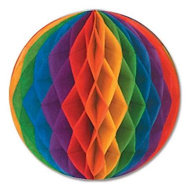 Boule en papier, 12 po, multicolore, 4/paquet