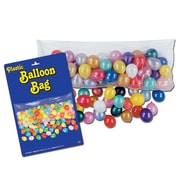 "Plastic Balloon Bag With Balloons, 3' x 6' 8"", 2/Pack"