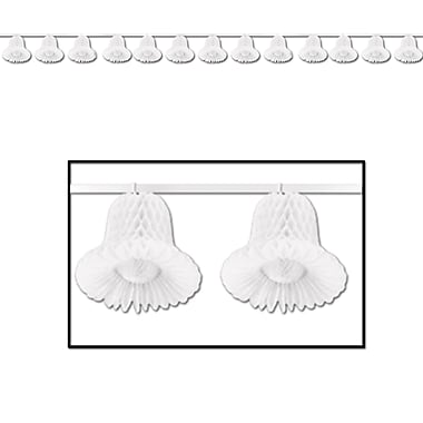 White Tissue Bell Streamer, 24', 2/Pack