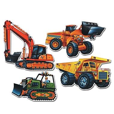 Découpes véhicules de construction, entre 14 et 21 po, 12/paquet