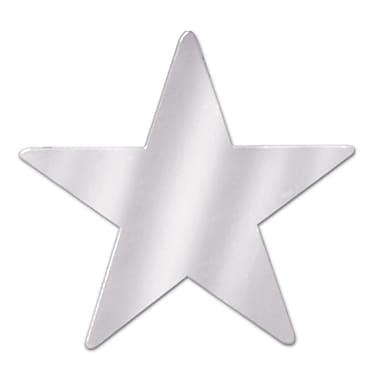 Découpes en forme d'étoile métallisée, 3 3/4 po, argenté, 84/paquet