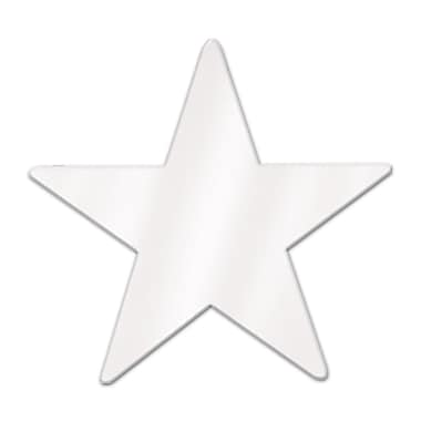 Metallic Star Cutouts, 3-3/4