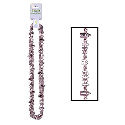 Beistle Its A Girl Beads Of Expression Necklace, 36