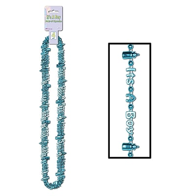 Beistle Its A Boy Beads Of Expression Necklace, 36
