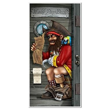 Pirate Captain Restroom Door Cover, 30