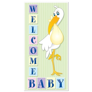 Décoration de porte « Welcome Baby », 30 po x 5 pi, 3/paquet