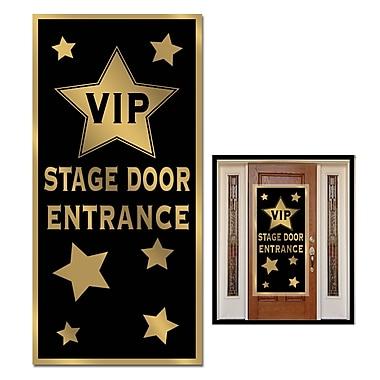 Affiche de porte d'entrée VIP à la scène, 30 po x 5 pi, paquet de 3