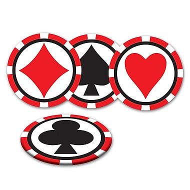 Sous-verres Casino, 3 ½ po, paq./32