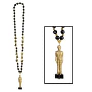 Beistle Beads Necklace With Awards Night Statuette, 36""