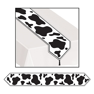 Printed Cow Print Table Runner, 11