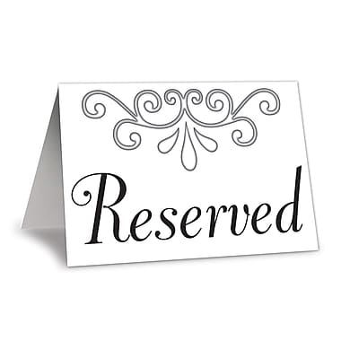 Cartons de table « Reserved », 3 x 4 1/4 po, paquet de 20