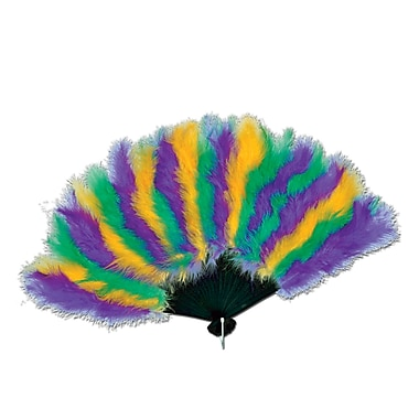 Mardi Gras Feather Fan, 12
