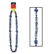 "Beistle Oktoberfest Beads Of Expression Necklace, 38"", Metallic Blue"